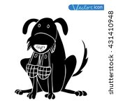 dog icon    illustration.black ... | Shutterstock .eps vector #431410948