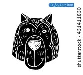 dog icon    illustration.black ... | Shutterstock .eps vector #431411830