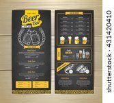 vintage chalk drawing beer menu ... | Shutterstock .eps vector #431420410