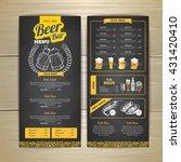 vintage chalk drawing beer menu ... | Shutterstock .eps vector #431420410
