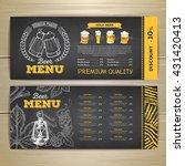 vintage chalk drawing beer menu ... | Shutterstock .eps vector #431420413