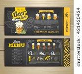 vintage chalk drawing beer menu ... | Shutterstock .eps vector #431420434