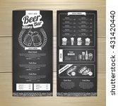 vintage chalk drawing beer menu ... | Shutterstock .eps vector #431420440
