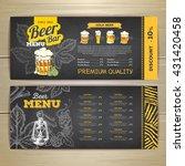 vintage chalk drawing beer menu ... | Shutterstock .eps vector #431420458