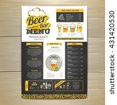vintage chalk drawing beer menu ... | Shutterstock .eps vector #431420530