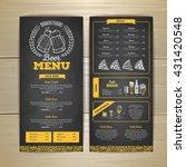 vintage chalk drawing beer menu ... | Shutterstock .eps vector #431420548