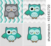 Set Of Cute Vector Owls On...