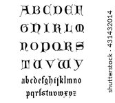 vector hand drawn alphabet. | Shutterstock .eps vector #431432014