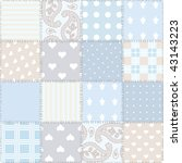 seamless background patchwork   Shutterstock .eps vector #43143223