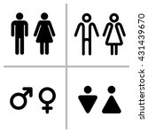 set of wc icons isolated on a... | Shutterstock . vector #431439670