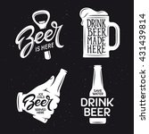 beer related typography. vector ... | Shutterstock .eps vector #431439814