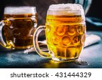 close up two cold beers with... | Shutterstock . vector #431444329