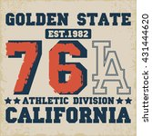 college los angeles typography  ... | Shutterstock .eps vector #431444620