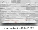 empty top marble shelves and...   Shutterstock . vector #431451820