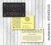 set of ornamental business... | Shutterstock .eps vector #431453110