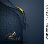 greeting card template islamic... | Shutterstock .eps vector #431460478