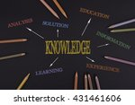 knowledge concept. black office ... | Shutterstock . vector #431461606