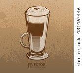 brown artistic hand drawn... | Shutterstock .eps vector #431462446