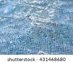 blue tiles of a pool bottom... | Shutterstock . vector #431468680