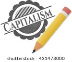 capitalism emblem draw with... | Shutterstock .eps vector #431473000
