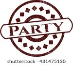 party rubber grunge stamp | Shutterstock .eps vector #431475130