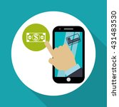 invoice design. online payment. ... | Shutterstock .eps vector #431483530