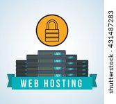 web hosting design. data center ... | Shutterstock .eps vector #431487283