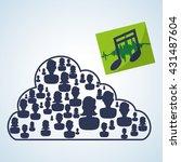 social network design. social... | Shutterstock .eps vector #431487604