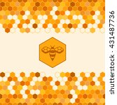 background with honeycombs and... | Shutterstock .eps vector #431487736