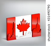 flag of canada in perspective... | Shutterstock .eps vector #431490790