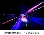 pixelated speed light background | Shutterstock . vector #431496178