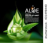 aloe vera collagen serum and... | Shutterstock .eps vector #431498440