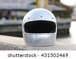 Vintage Silver Helmet