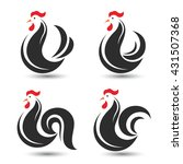 rooster and cock design symbol... | Shutterstock .eps vector #431507368