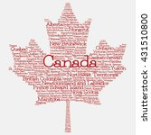 maple leaf mad of cities and... | Shutterstock .eps vector #431510800