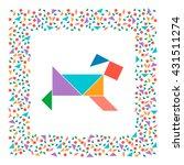 tangram dog. vector | Shutterstock .eps vector #431511274