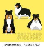 dog shetland sheepdog cartoon... | Shutterstock .eps vector #431514760