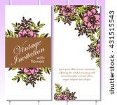 vintage delicate invitation... | Shutterstock . vector #431515543