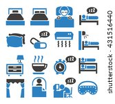 bedroom  sleep  sleeping icon... | Shutterstock .eps vector #431516440