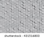 grey honeycomb background   Shutterstock . vector #431516803