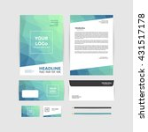corporate identity template.... | Shutterstock .eps vector #431517178