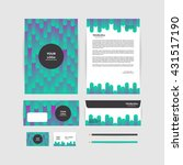 corporate identity template.... | Shutterstock .eps vector #431517190