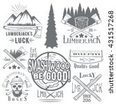 set of lumberjack and woodsman...   Shutterstock . vector #431517268