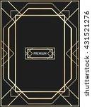 vector geometric frame in art... | Shutterstock .eps vector #431521276