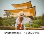 lady tourist is watching... | Shutterstock . vector #431523448