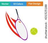 tennis racket hitting a ball...