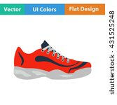 tennis sneaker icon. flat...