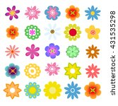 set of flat flower icons in... | Shutterstock .eps vector #431535298