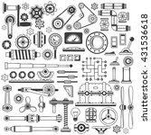 set of industrial machine parts ... | Shutterstock .eps vector #431536618