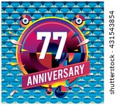 77th anniversary logo with... | Shutterstock .eps vector #431543854